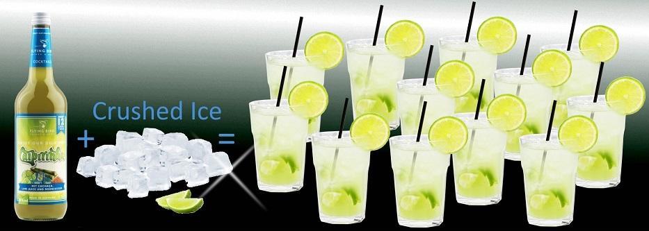 Flasche Caipirinha Cocktail Premix plus Eis ergibt 12 fertige Cocktails