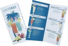 Cocktailkarte mit 6 Cocktails