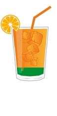 Big Apple Cocktail alkoholfrei -  Zutaten in einem Trinkglas - schematische Darstellung