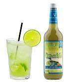Fertigcocktail Caipirinha Flasche 0,7l und Cocktail im Glas