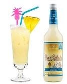Pina Colada Flasche 0,7l und fertig gemixter Cocktail im Glas