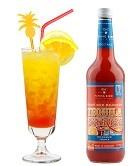 Tequila Sunrise Flasche 0,7l und Cocktail fertig gemixt im Glas