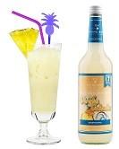 Virgin Colada alkoholfrei Flasche 0,7l und Cocktail fertig im Glas